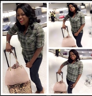 Funke Akindele Arrives London To Celebrate Her Birthday [See Photos]